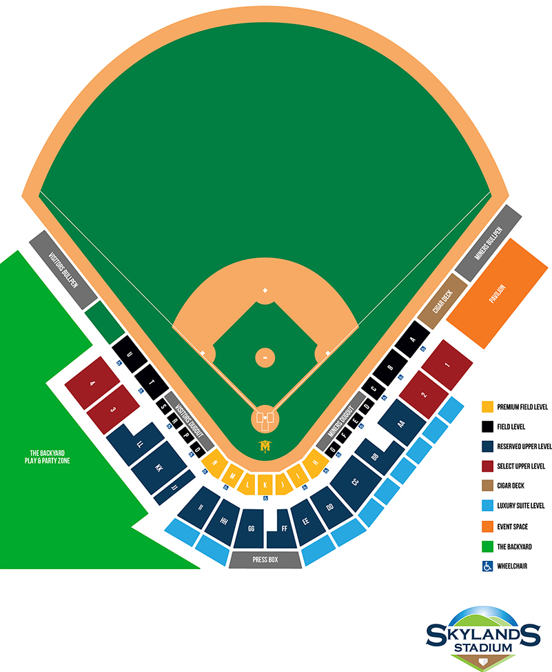 Skylands Stadium Seating Chart