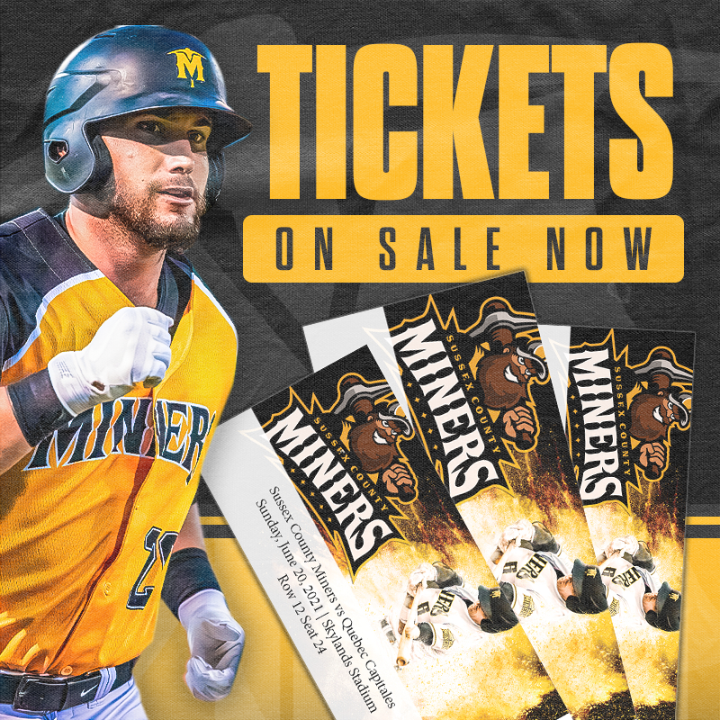 Sussex County Miners 2021 Tickets Out Now
